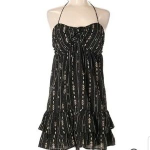 Torn by Ronny Kobo Sz Small Black Printed Halter